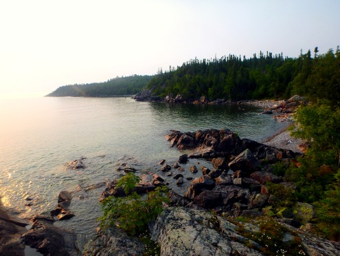 The Orphan Lake Trail provides access to the Coastal Trail. Hikers heading north of the Baldhead River and the Orphan Lake Trail will face gruelling hiking conditions on rugged Lake Superior.