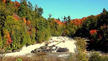 The Chippewa Falls in the fall season, as season from Highway 17, travelling to Wawa, Ontario.
