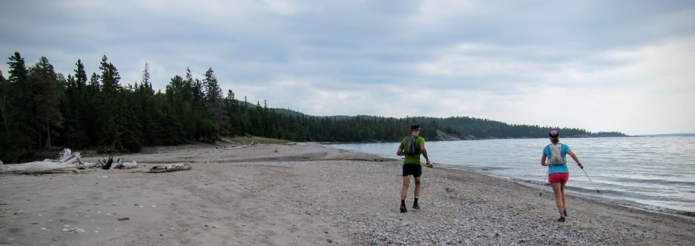 Viktoria Koskenoja and Sam Holcomb race the clock to complete the Coastal Trail in less than one day.